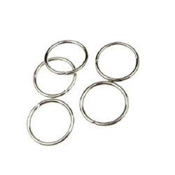 Халка метал 20x2 мм цвят сребро -50 броя