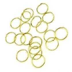 Халка метал 8x0.7 мм цвят злато -200 броя
