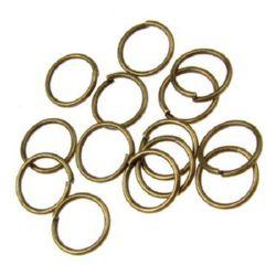 Inel metalic 8x0,7 mm culoare bronz antic -200 piese