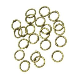 Халка метал 6x0.7 мм цвят антик бронз -200 броя
