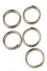 Халка метал 7x0.7 мм две навивки цвят сребро ~10 грама -100 броя