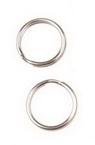 Inel metalic 14x1.5 mm două viraje culoare argintiu -20 bucăți