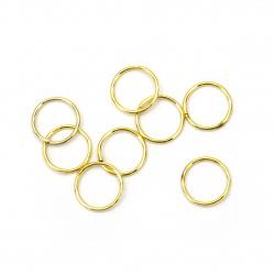 Халка метал 9x0.7 мм цвят злато -200 броя