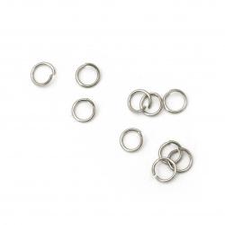 Халка стомана 5x0.6 мм дебелина цвят сребро -200 броя