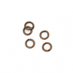 Халка метал 5x0.9 мм цвят антик мед -200 броя