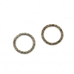 Inel metalic 15x1.5 mm diametru interior 12 mm oțel inoxidabil culoare -20 bucăți
