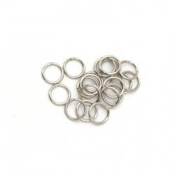 Халка стомана 4x0.5 мм дебелина цвят сребро -200 броя