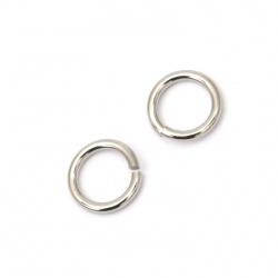 Inel din oțel de 10x1,5 mm grosime argint -20 bucăți