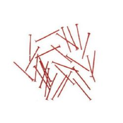 Свързващ елемент метал 20x0.7 мм с главичка цвят червен -10 грама ~100 броя