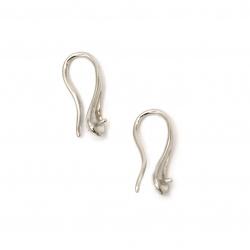 Suport pentru cercei metalici 14x7 mm culoare argintiu -10 bucăți