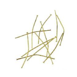 Свързващ елемент метал 40 мм с главичка цвят злато -10 грама ~55 броя