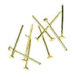 Element de legătură metalic 18 mm cu cap auriu -10 grame ± 160 bucăți