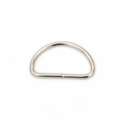 Полухалка метална вътрешен диаметър 32x17x2.8 мм цвят сребро -10 броя