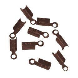 Ακροδέκτες-σφιχτηράκια μεταλλικά 3x8 mm μπρονζέ -50 τεμάχια