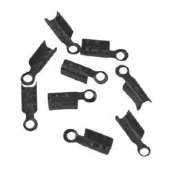 Ακροδέκτες-σφιχτηράκια μεταλλικά 3x8 mm Γραφίτη -50 τεμάχια