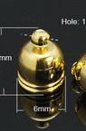 Накрайник метал объл 9x6 мм дупка 1 мм с халка цвят злато -20 броя