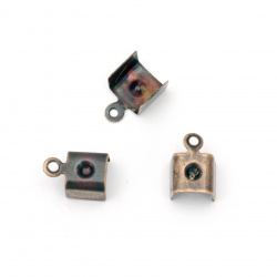 Накрайник метал 7x11 мм цвят мед -50 броя