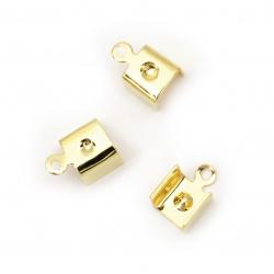 Накрайник метал 7x11 мм цвят злато -50 броя