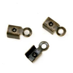 Накрайник метал 4.5x9 мм цвят антик бронз -50 броя