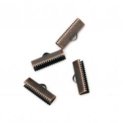 Ακροδέκτες-σφιχτηράκια μεταλλικά 20 mm αντικέ μελί -50 τεμάχια