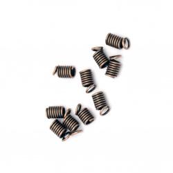 Накрайник метал пружинка 4x5x2 мм цвят мед -50 броя