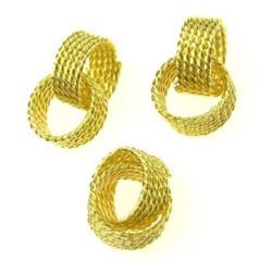Metal element rings 16x7x2 mm relief color gold -5 pieces