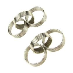 Metal element rings 13x4x1 mm color silver -5 pieces
