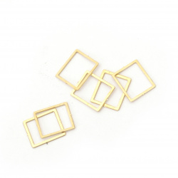 Rectangle flat element metal steel  7x6 mm color gold - 2 grams ± 60 pieces