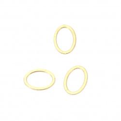 Елемент метал стомана елипса плоска 7x5 мм цвят злато -2 грама ~74 броя
