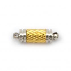Закопчалка магнитна 16x5 мм дупка 1 мм цвят сребро и злато
