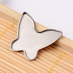 Metal building element steel butterfly 22x19x1.2 mm -5 pieces