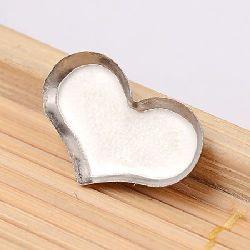 Metal building element steel heart 15x11x1.5 mm -5 pieces