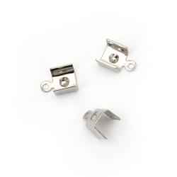 Ακροδέκτες-σφιχτηράκια μεταλλικά 7x11 mm ασημί NF -50
