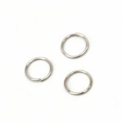 Jewelry Jump Rings, Close but Unsoldered, 8х0.7 mm