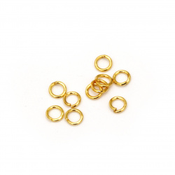 Jewelry Jump Rings, Close but Unsoldered, 4 x 7 mm