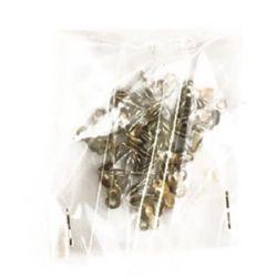 Ακροδέκτες-σφιχτηράκια μεταλλικά 8x4 mm ασημί -50 τεμάχια