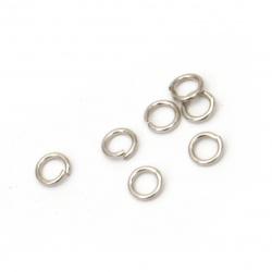 Халка метал 4x0.7 мм цвят сребро -200 броя