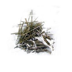 Свързващ елемент метал 24 мм с главичка цвят сребро -10 грама-115 броя