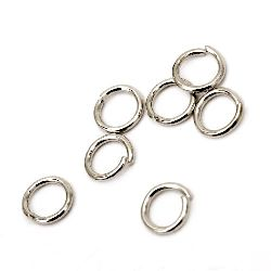 Jewelry Jump Rings, Close but Unsoldered, 5x0.7 mm color silver -200 pieces