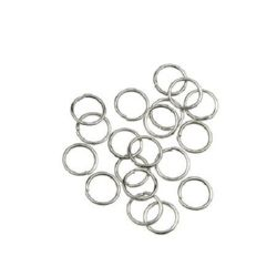 Jewelry Jump Rings, Close but Unsoldered, 7x0.7 mm color silver -200 pieces