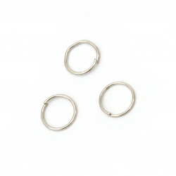 Metal ring for Jewelry10x0.9 mm color silver -200 pieces
