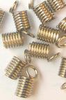 Nozzle metal spring 45x7x32 mm color silver -50 pieces