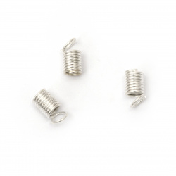 Nozzle metal spring 5x6.2x3.6 mm color white -50 pieces