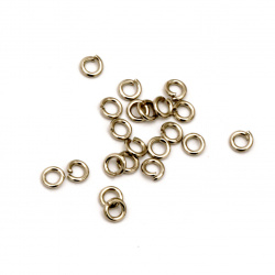 Metal ring 3x0.7 mm color silver -200 pieces