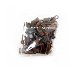 Ακροδέκτες-σφιχτηράκια μεταλλικά 3x9 mm καφέ -50 τεμάχια