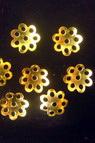 Καπελάκια χάντρας 8x1 mm μεταλλικά, χρυσό -5,6 γραμμάρια -100 τεμάχια