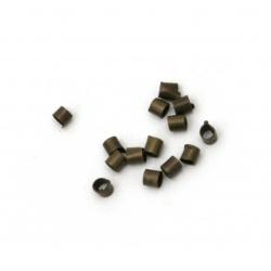 Μεταλλικά στοπάκια 1.5x1.5mm χάλκινο -100 τεμάχια