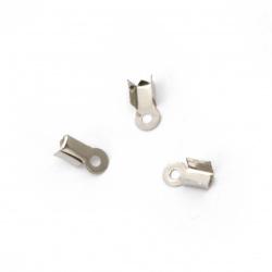 Накрайник метал 3x8.5 мм със зъб цвят сребро -50 броя