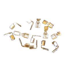 Метални накрайници двойни 4x9 мм със зъб цвят бял -50 броя