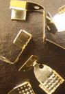 Ακροδέκτες- σφιχτηράκια μεταλλικά 6x11 mm λευκό -50 κομμάτια